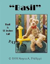 "Mohair/Plush ""Basil"" Teddy Bear Pattern by Neysa A. Phillippi of Purely Neysa"