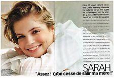 Coupure de presse Clipping 1998 (6 pages) Sarah Biasini