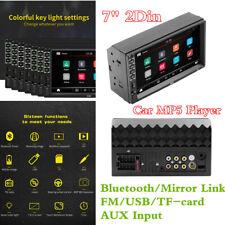 """2Din 7"""" para tablero de automóvil FM Radio estéreo Reproductor de MP5 BT/MIRROR LINK/USB/tarjeta TF -/AUX-IN"""
