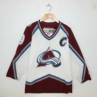 Vintage Colorado Avalanche #19 Joe Sakic CCM NHL Hockey Jersey Mens Size Small