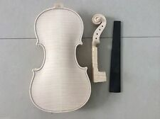 New 4/4 size Violin in white European tone wood body and neck not glued