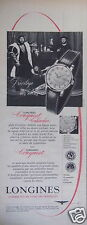 PUBLICITÉ 1958 MONTRES LONGINES CONQUEST CALENDAR AUTOMATIQUE - ADVERTISING