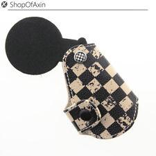 Checkered Leather Key Fob Case Key Holder For Mini Cooper R55 R56 R57 R59