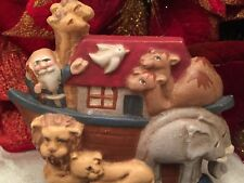 Noah's Ark Stocking Holder Christmas Midwest Of Cannon Falls Vintage Animals