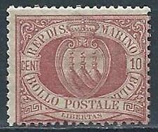 1894-99 SAN MARINO STEMMA 10 CENT MNH ** - VA6