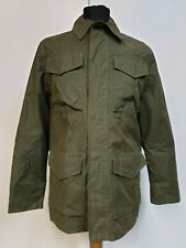 """MENS TIMBERLAND CO ARMY GREEN LIGHTWEIGHT CARGO CHORE JACKET SMALL S 36"""""""