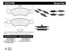 Disc Brake Pad Set-C-TEK Metallic Brake Pads Front Centric 102.01700