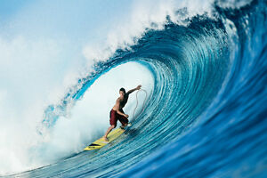 "Damien Hobgood in Fiji 20x30"" Photo by Pete Frieden"