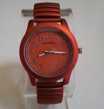 Women's Stretch Band Painted Metal Finish Fashion Good for Nurse Watch