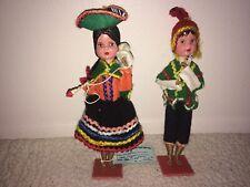Artisans International Dolls - Peru - Set of 2 Folk Art Ethnic Cultural Dolls