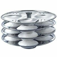 Idli Maker Stand Steel Sainless Steel Cooker 4 Plates Mini - Free Shipping