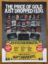 NEO GEO X GOLD System 1992 Vintage Print Ad/Poster Games & Console Promo Rare!