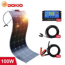 100W 200W Semiflexibel Monokristalline Solarpanel Kit zum Wohnmobil/Auto/Zuhause