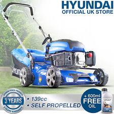 """🔵 Petrol Lawnmower Self Propelled Lawn Mower 17"""" 43cm Hyundai 3 YR WARRANTY OIL"""