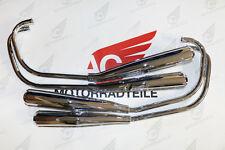 Honda CB 350 Four 4-4 Muffler Kit Exhaust Chrome Japan Repro New