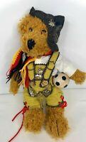 "Reinart Faelens German Teddy Bear Soccer Collection Plush Lederhosen 13"" Rare"
