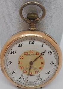 Antike Taschenuhr Ancre Spiral Breguet 800 Silber