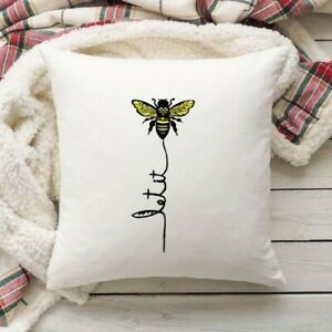 Let it Bee Cushion Cover - 40 x 40 cm. Bee Lover's Gift