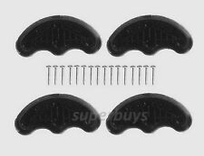 Black Shoe Partial Heel Plate Sole Toe Cap Repair Kit 4 Rubber 16 Nails Wear Out