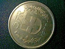1977 Switzerland Swiss 5 Francs 5 FR