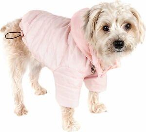 Frisco Boulder Dog & Cat Puffer Coat Pink