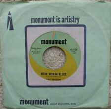 Roy Orbison - Mean Woman Blues / Blue Bayou - USA Jukebox 45 - Monument 824
