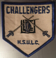 Challengers H.S.U.L.C. Football Team Crossed Swords Fencing Emboidered Patch