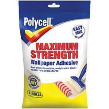 POLYCELL POLYFILLA MAX STRENGTH WALLPAPER ADHESIVE 5 ROLL