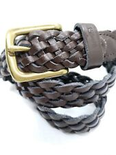 LEVIS Kids' Brown Braided Leather Belt Large