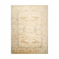 "8'9"" x 11'7'' Hand Knotted 100% Wool Oushak Traditional Oriental Area Rug Beige"