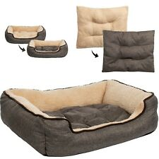 Dog Bed With Reversible Pillow Dog Basket Dog Sofa Cat Bed Top Braun L