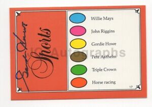 Gordie Howe - Hockey Great, NHL Hall of Famer - Signed Trivial Pursuit Card