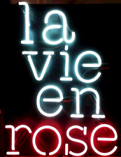 "New LA VIE EN ROSE Neon Sign 17"" Ship From USA"