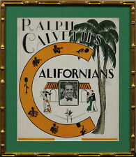 Californians c30s Nightclub Poster in Gilt Bamboo Frame