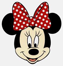 "7X7"" Disney Minnie Mouse glitter large IRON On TRANSFER Heat Vinyl polka dot bow"
