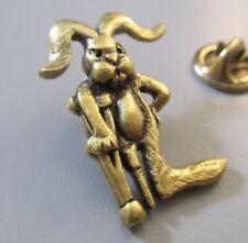 leg crutch Lucky Jack rabbit Grands Vintage Grumpy Rabbit Pin Tie Tack Peg