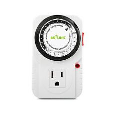BN-LINK 24 Hour Plug in Mechanical Grounded Programmable Timer Indoor Heavy Duty
