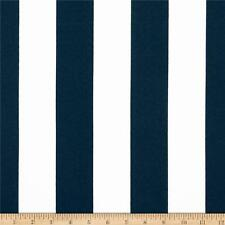 """Navy and White 2"""" Deck Stripe OUTDOOR Fabric, Navy Upholstery Fabric by the Yard"""
