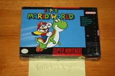 Super Mario World (Super Nintendo SNES) NEW SEALED V-SEAM FIRST PRINT, VERY RARE