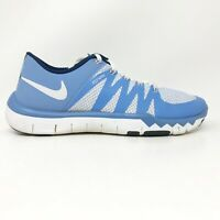 Nike Mens Free Trainer 5.0 V6 723939-402 Blue Running Shoes Lace Up Size 6.5