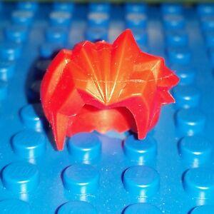 LEGO® Accessory Minifigure ONE Hair Bright Red Spike Spiky Wig  headgear