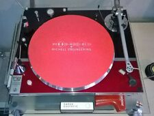 """MICHELL ENGINEERING 7"""" 12"""" Turntable / Platter MAT Choose: Black White Red Brown"""