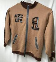 Azzure Denim Mens 3XL Cotton Zip Front Sweatshirt Love Life Denim Hip Hop Urban