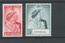 Grenada KGVI 1948 Royal Silver Wedding set SG166/7 MNH