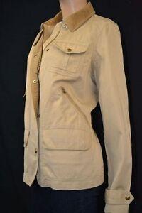 Ralph Lauren Tan Jacket Coat Corduroy Snaps NWT L $179