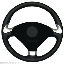 WHEEL COVERS FULL IN LEATHER REAL BLACK FOR PEUGEOT 307CC