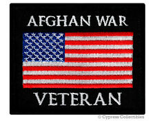 AFGHAN WAR VETERAN PATCH embroidered iron-on US MILITARY VET AFGHANISTAN EMBLEM