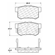 Centric Parts 102.05370 Rear Semi Metallic Brake Pads