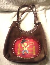 Western Style Leather Purse With Beading & Western Picture