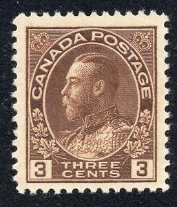 Canada #108 3c King George V KGV MNH Scott CV $70.00